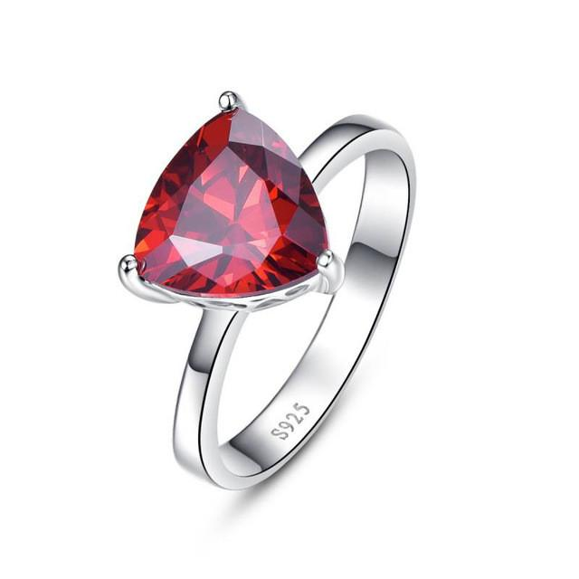 Taisia Diamond Red Garnet Ring