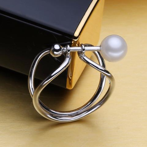 Cho Round Pearl Bar Ring