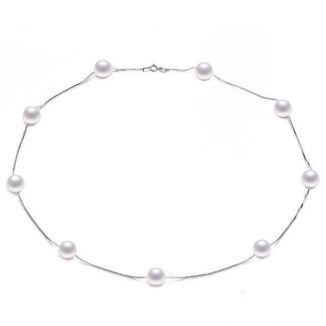 Biyu Tin Cup Pearl Necklace