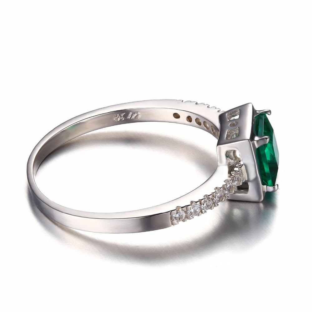 Alixandra Square Emerald & Zirconia Ring
