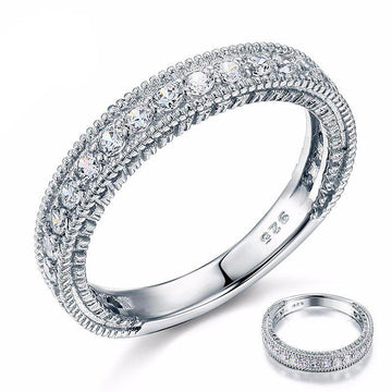 Darcey Zopius Diamond & Silver Eternity Ring