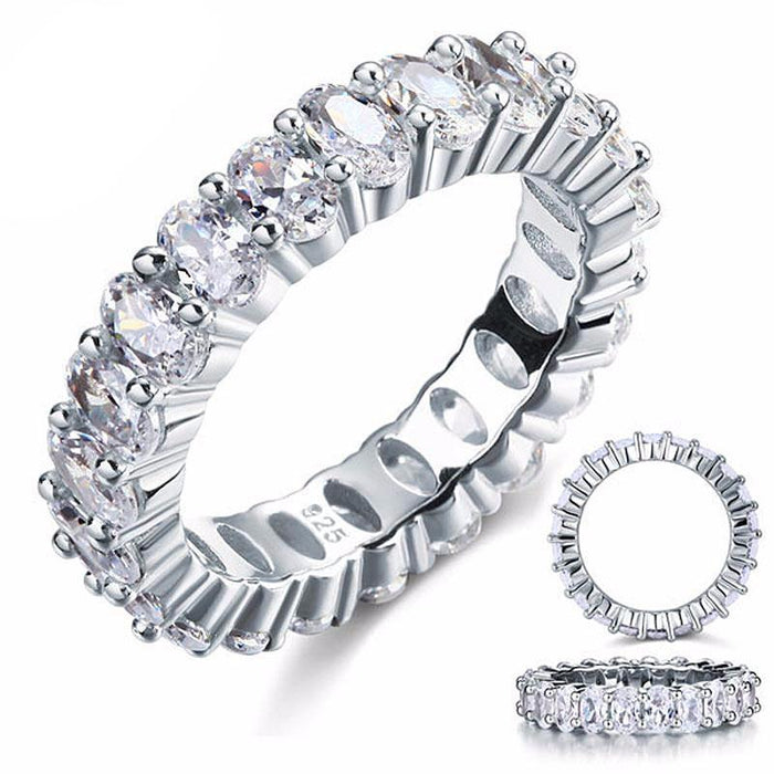 Damiane Zopius Diamond & Silver Eternity Ring