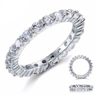 Darcel Zopius Diamond & Silver Eternity Ring