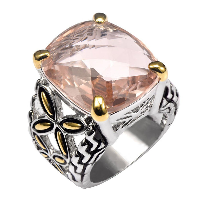 Viktoriya Pillow Morganite Ring