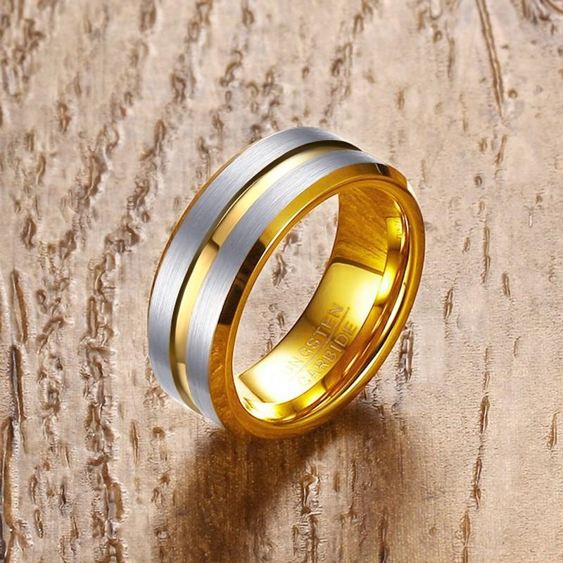 Cool Punk Gold-Color Tungsten Ring