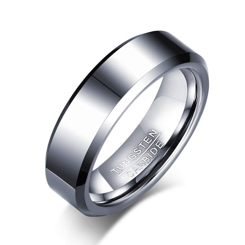 Trendy Black Wide Anillos Tungsten Carbide Ring