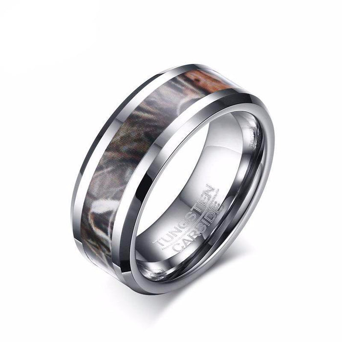 Camouflage Tungsten Carbide Ring