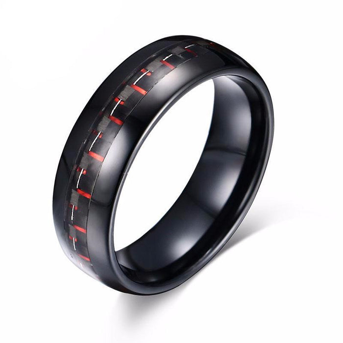 Black Carbon Tungsten Carbide Ring