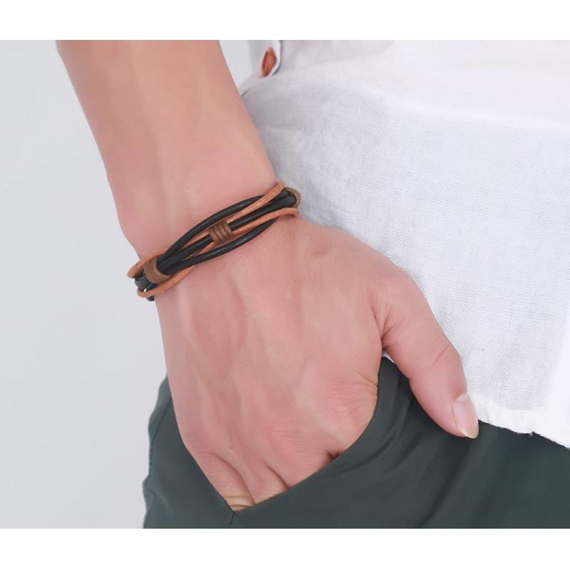 Casual Weave Leather Bracelet