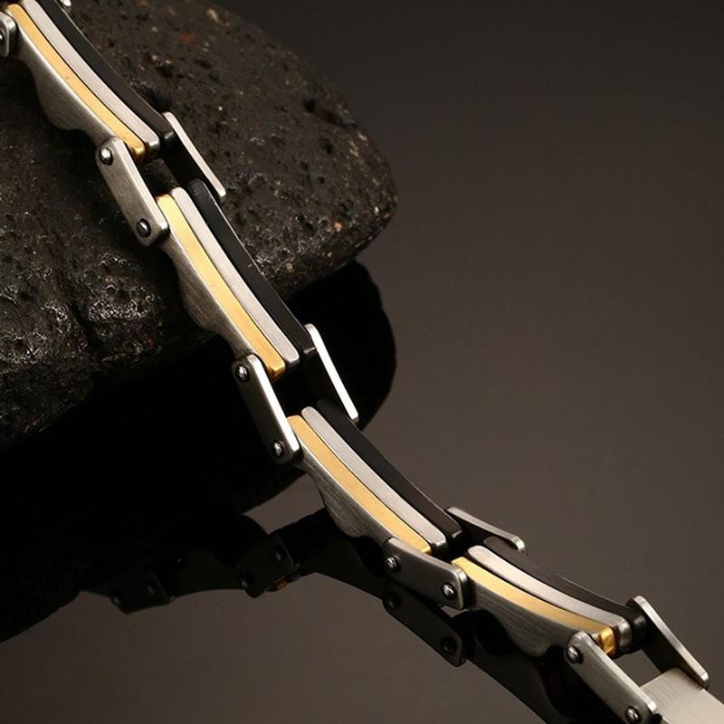 Biker Surgical Steel Bracelet for Men