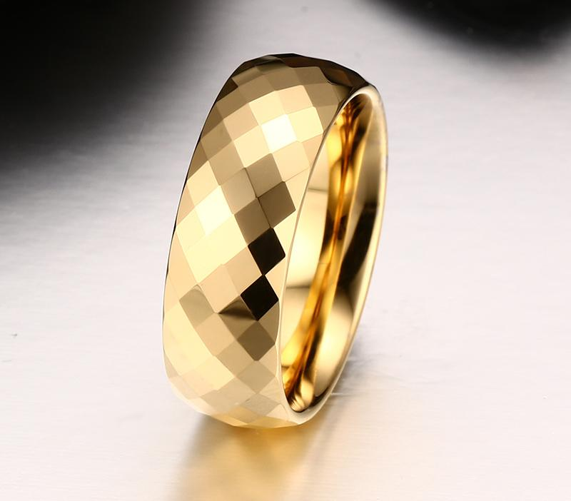 Top Quality Design Gold-Color Tungsten Ring