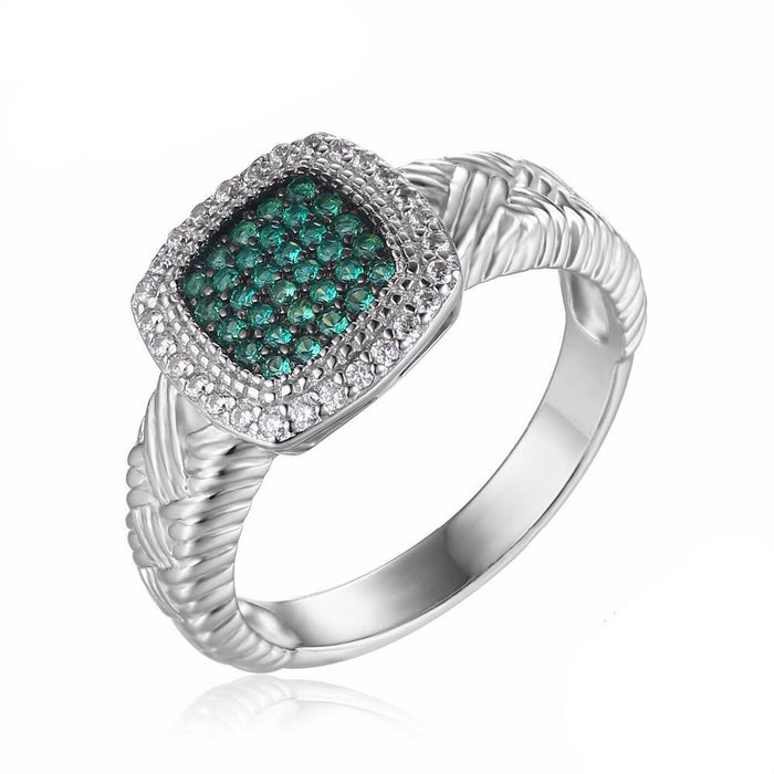Albertina Round Emerald Ring