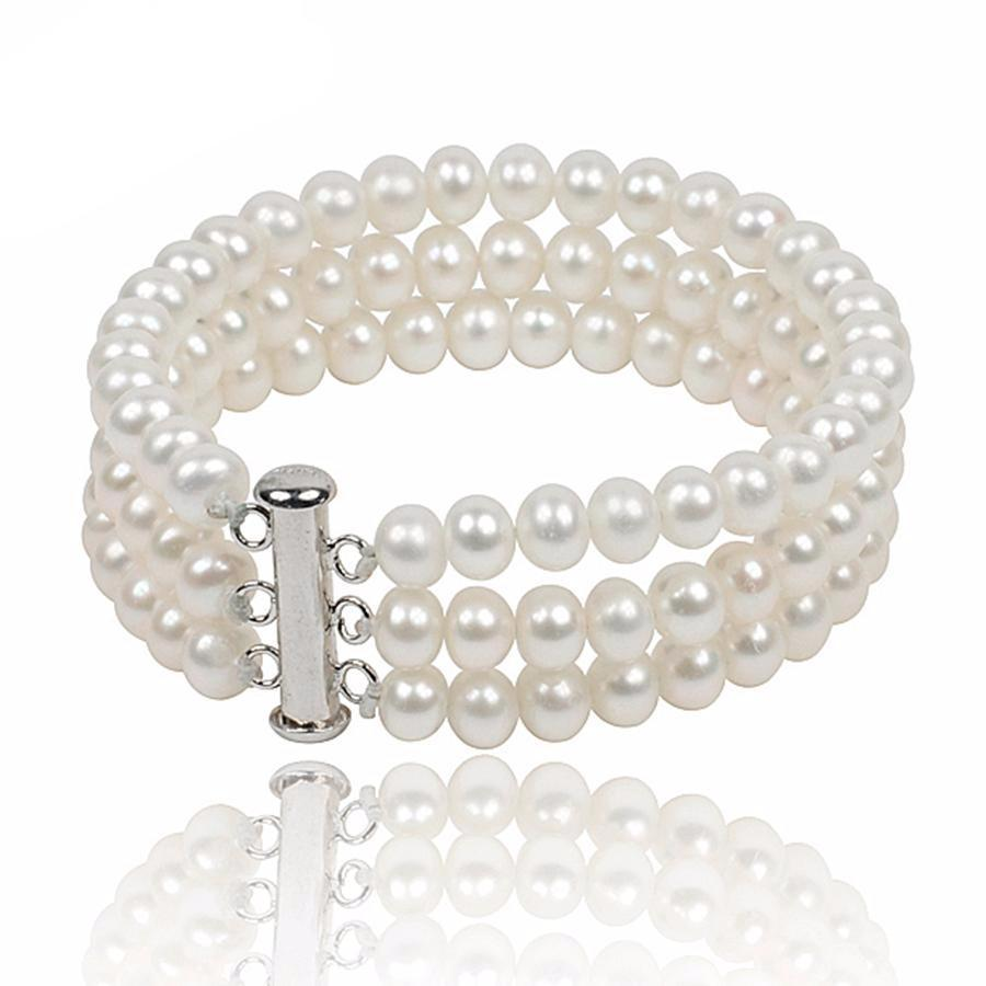 Caress Round White Pearl Bracelet