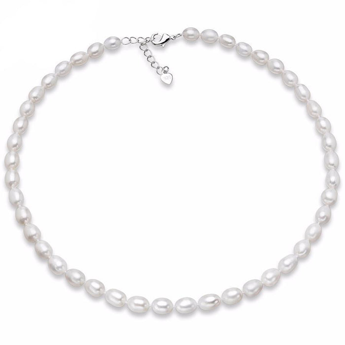 Jiao Rice Pearl Necklace