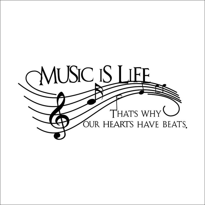 Music is Life Note  Wall Stickers