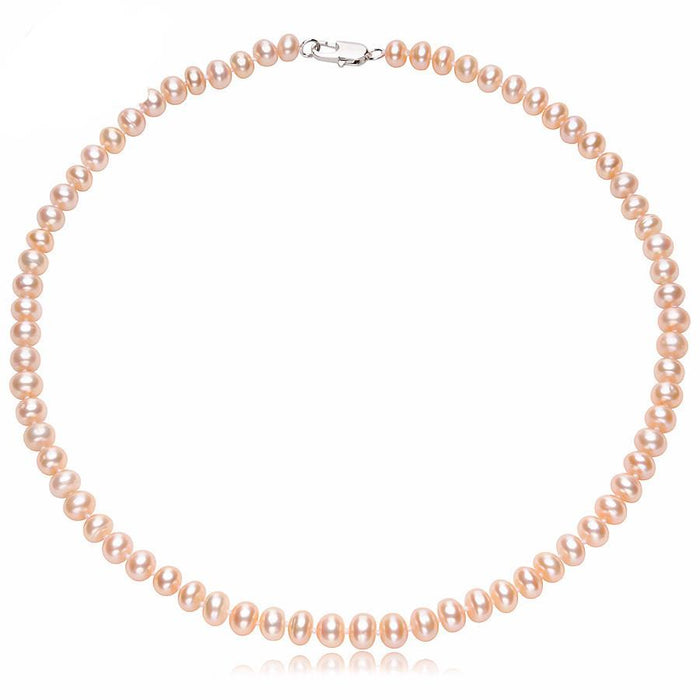 Juan Round Pink Pearl Necklace