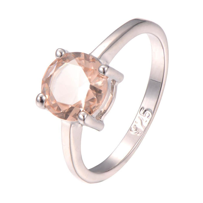 Vladlena Round Morganite Ring