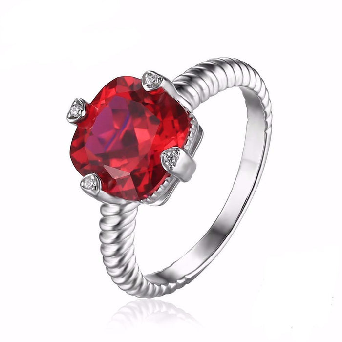 Adelle Cushion Ruby Ring