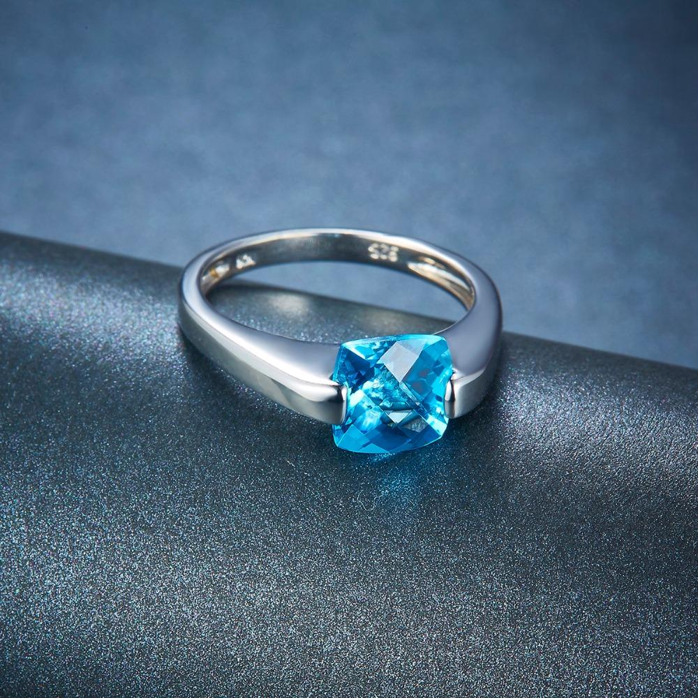 Bernadea Blue Checkboard Topaz Ring