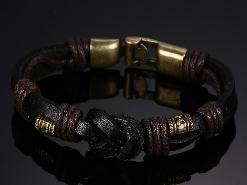 Infinity Knot Leather Bracelet