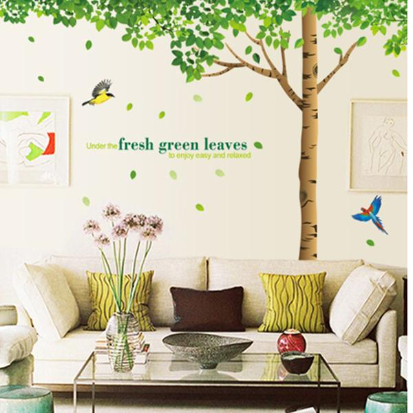 Fresh Green Leaves Wall Stickers