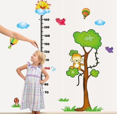 Little Monkey Tee Height Wall Stickers