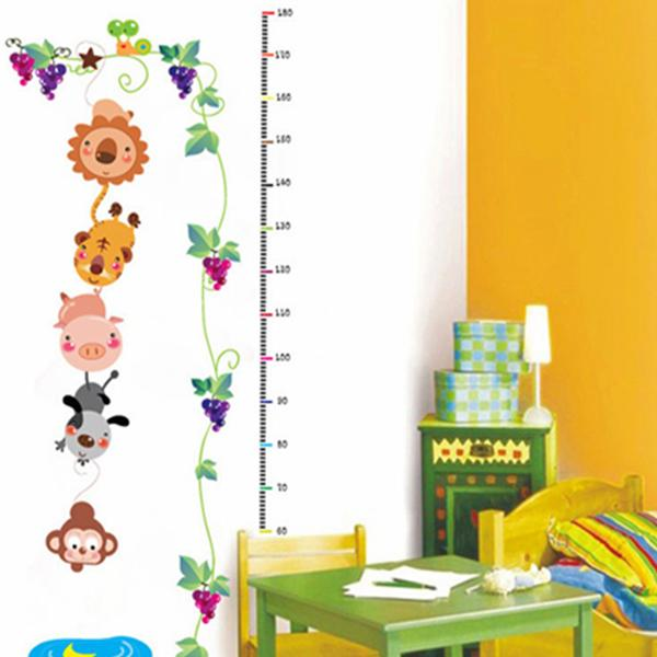 Height Feet Children Room Wall Stickers