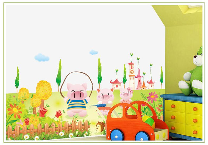 Spring Pig Household Wall Stickers