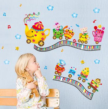 Little Train Cups Wall Stickers