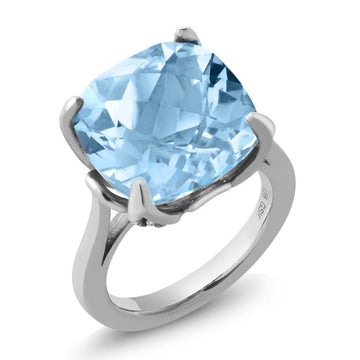 Bernita Blue Cushion Topaz Ring