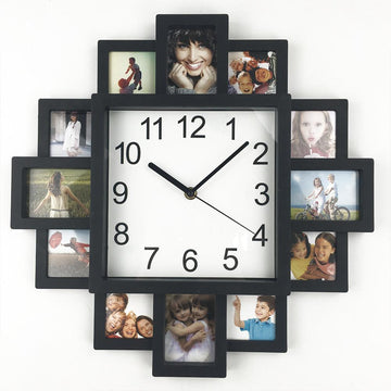 Black Photo Frame Wall Clock