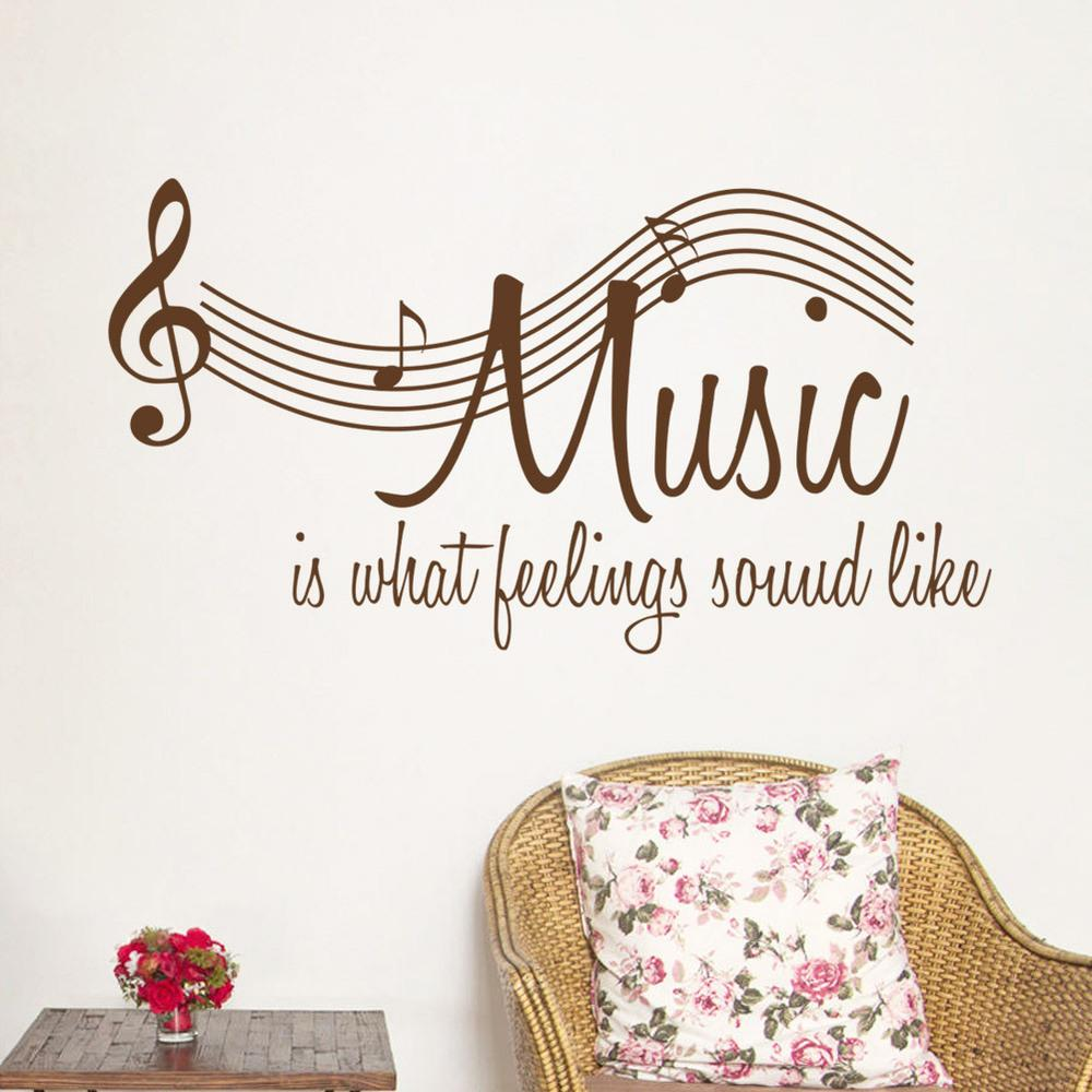 Music is What Feelings Sound Like Wall Stickers