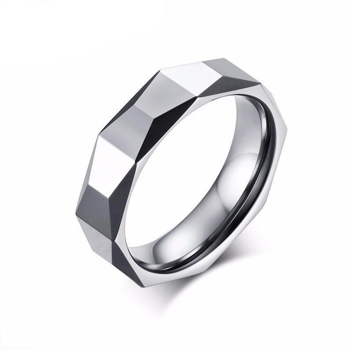 Rhombus Tungsten Carbide Ring