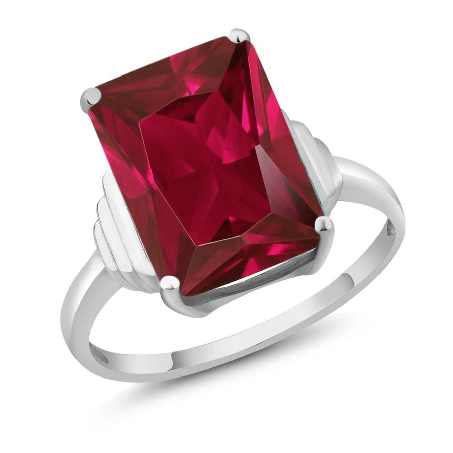 Addie Octagon Ruby Ring