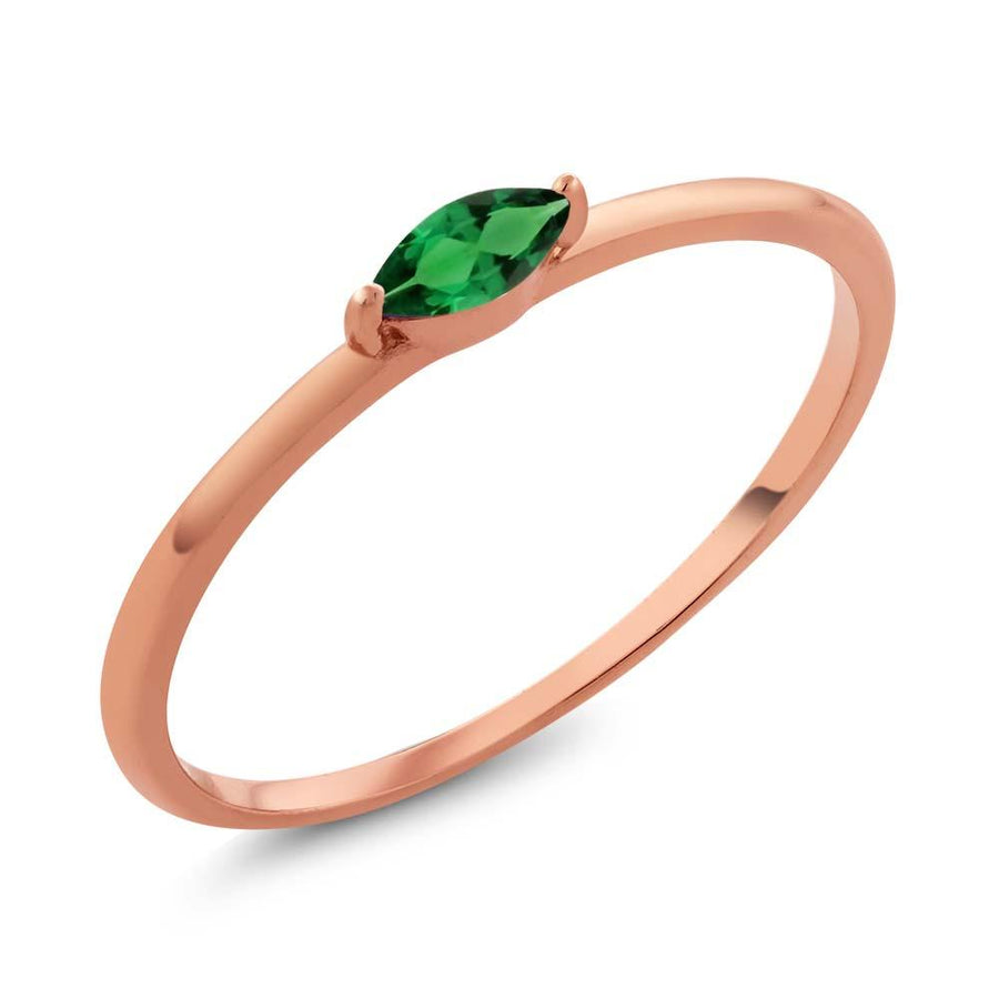 Aluin Marquise Emerald Ring
