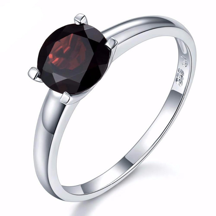 Renata Round Black Garnet Ring