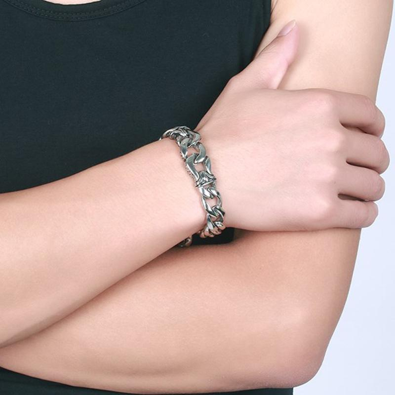 Chunky Curb Chain Men's Metal Bracelet