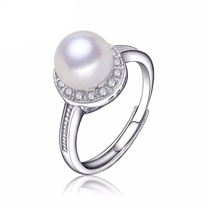 Chinami Round Pearl Ring