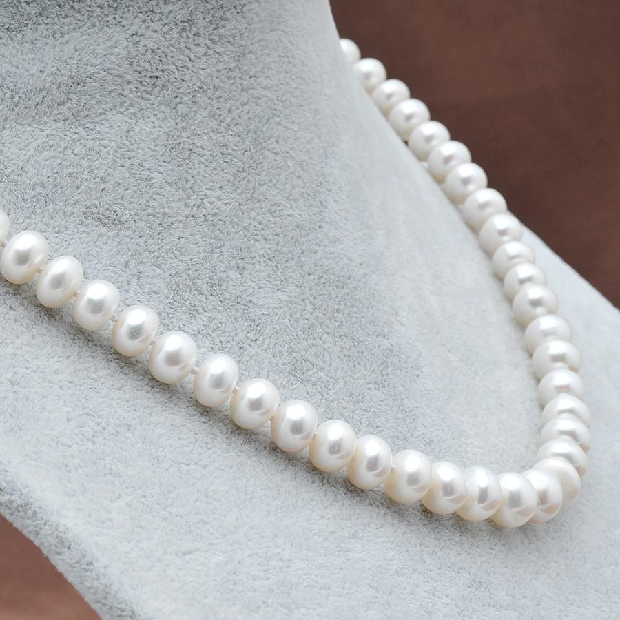 Lee Oval Pearl Necklace