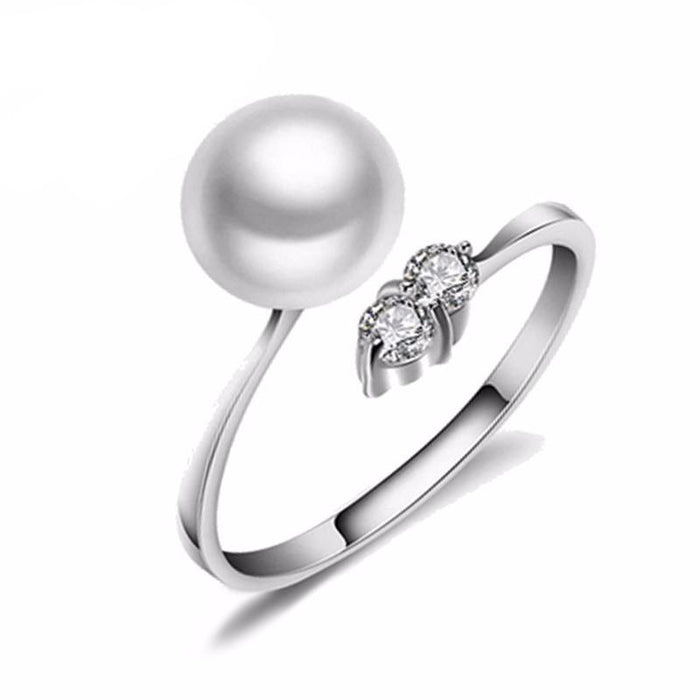 Fuji Round Pearl & Gem Ring