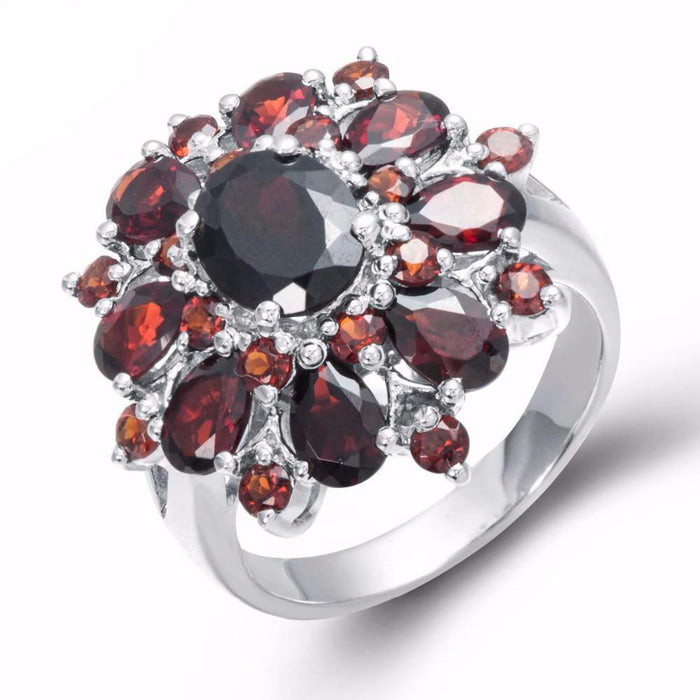 Olesya Oval Red Garnet Ring