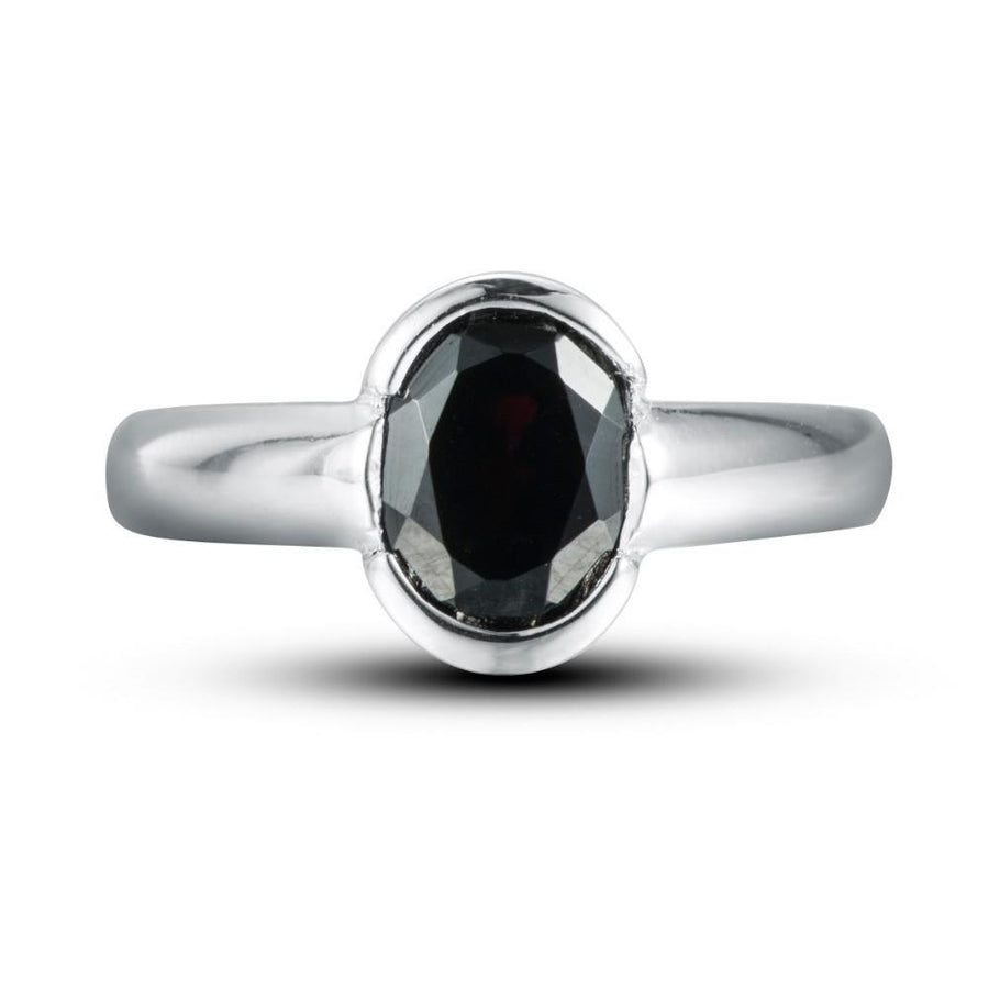 Kseniya Oval Black Garnet Ring