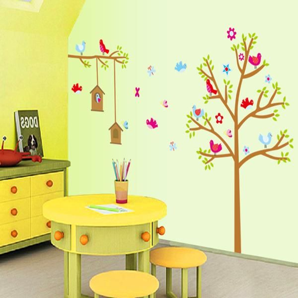 Tree House for Birds Wall Stickers