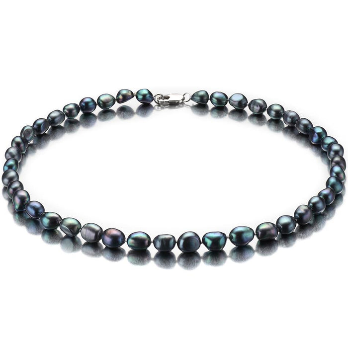Liqiu Baroque Black Pearl Necklace