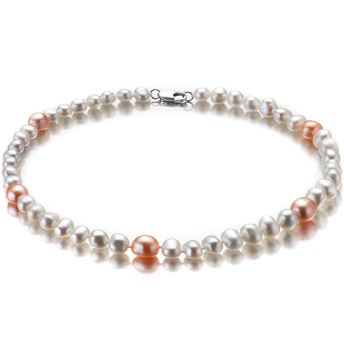 Lin Baroque Pink Pearl Necklace