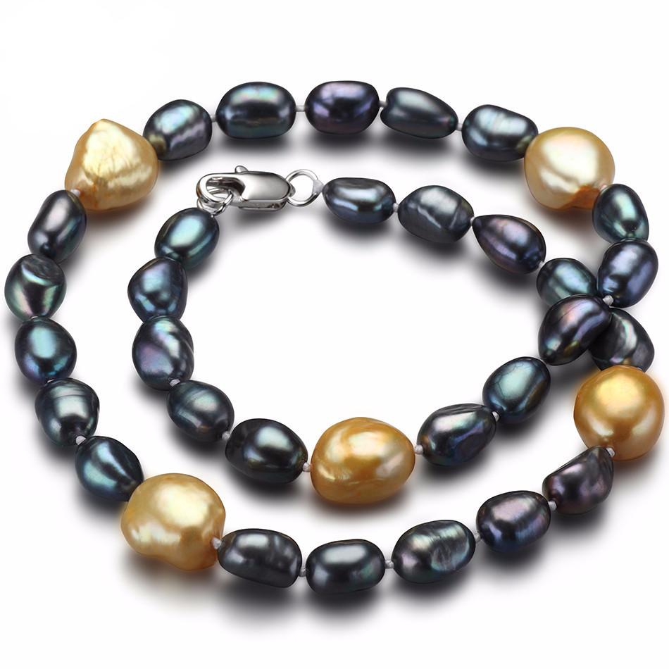 Lijuan Baroque Black Pearl Necklace