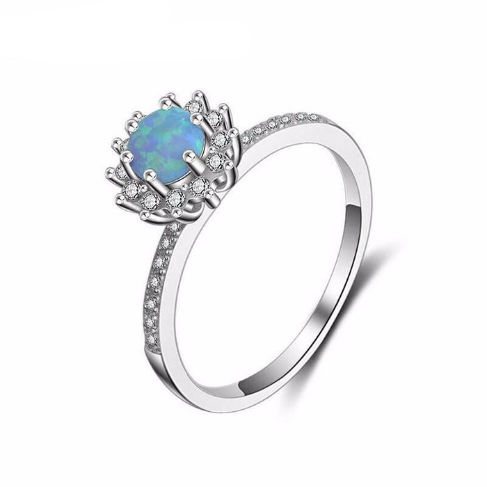 Bijoux Sky Blue Opal Ring