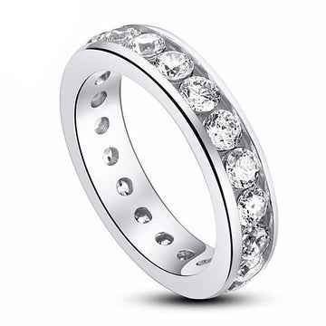 Damiana Zopius Diamond & Silver Eternity Ring