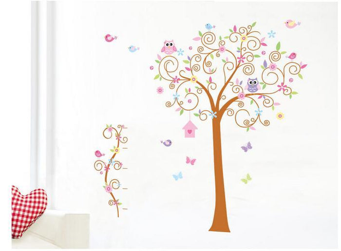 Large Owl Tree Children Wall Stickers
