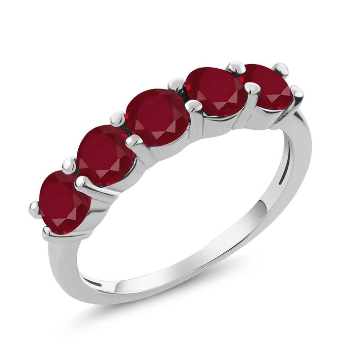 Adelise Round Ruby Ring